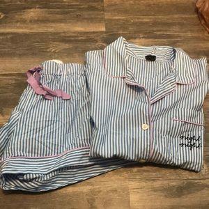 J. Crew night night striped pajama set
